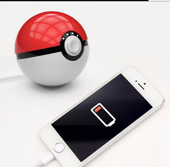 2016 Hot Sale:for Pokemon Go Ball Power Bank 10000ma Chager With ...
