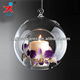 hand blown hanging glass ball candle holder/glass gobe for sale