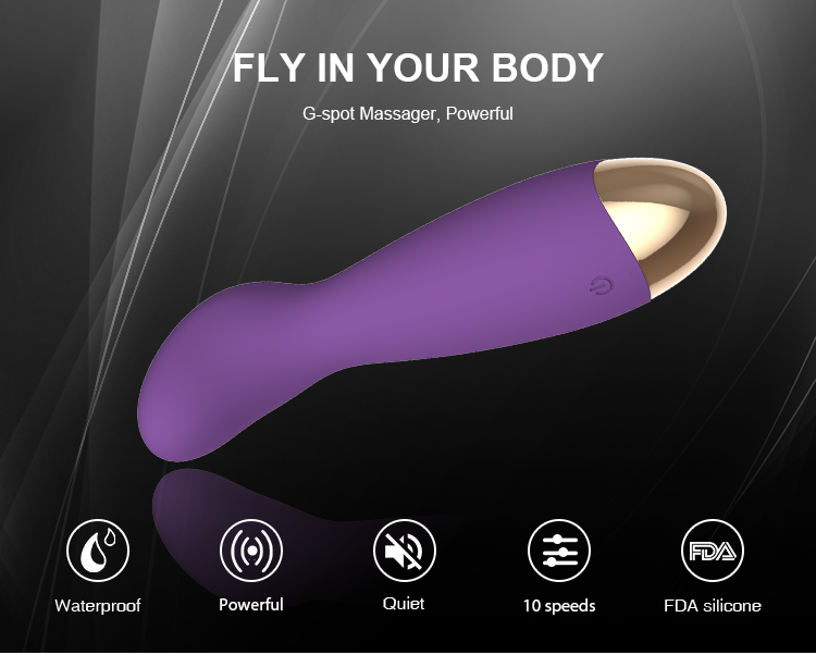 Mute waterproof Waterproof Rechargeable Dildo Hand-Held Body Massage Dual Motors Vibrators