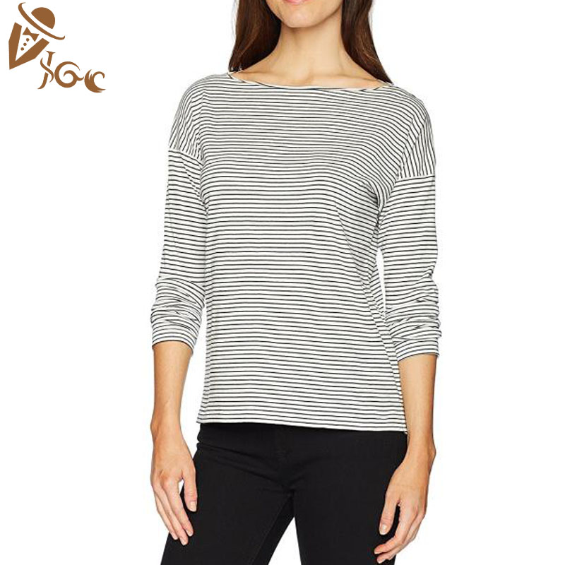 wholesale zebra stripes long sleeve blouses tops for women ladies girls