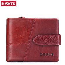 83b8397cd KAVIS 2018 de la marca de lujo para mujer bolsos y carteras de mujer de  cuero genuino monedero larga para niña tarjeta titular a.
