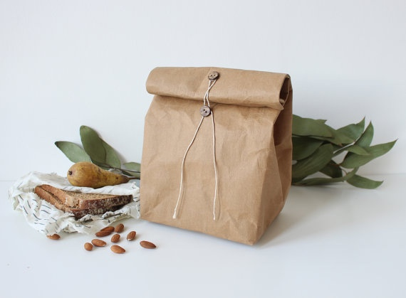 Eco Clutch Bag Biodegradable Bags/Washable Kraft Paper Bag Gift Bag Handbag