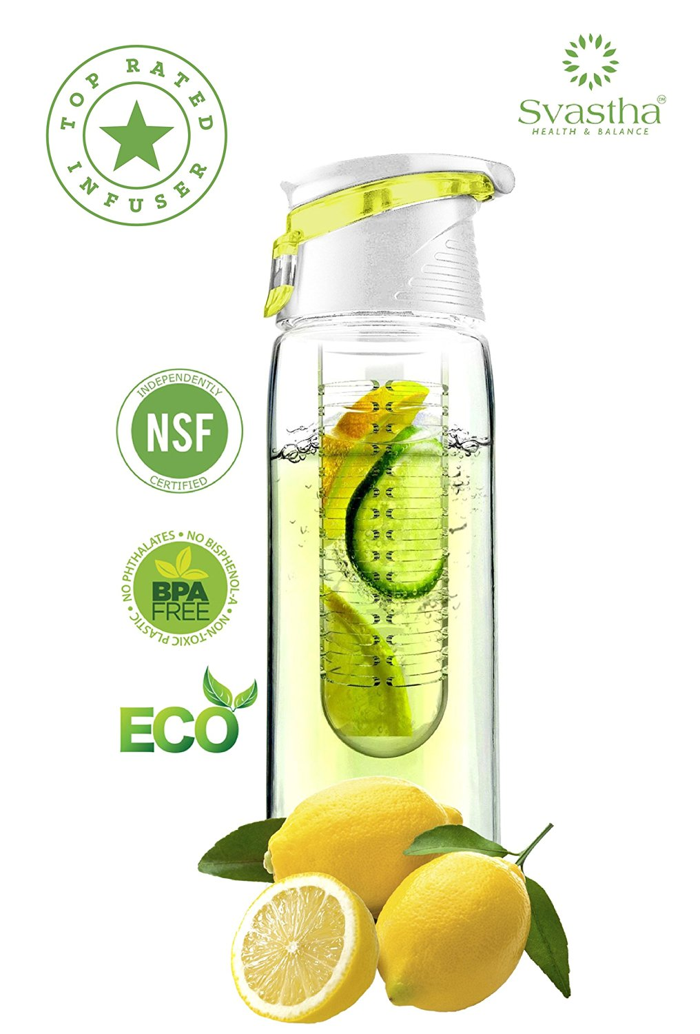 BLACK FRIDAY SALE :: Stylish & Sporty 28 Oz :: LEAK PROOF :: GREAT GIFT :: Fruit/Vegetable Infuser Water Bottle :: PERFECT SIZED INFUSER :: Comfortably Fits in Most Cupholders :: BPA FREE :: Environmentally Friendly :: Shatter & Scratch Resistant :: Lifetime Warranty