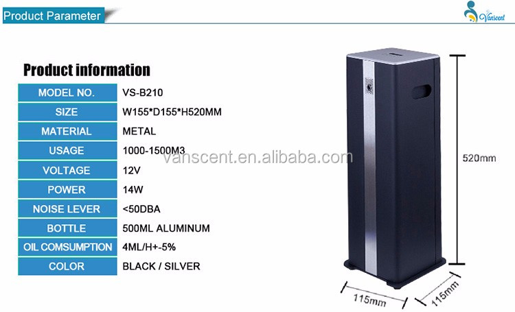 Portable Air Cleaner Aromatherapy Dispenser,Ultrasonic Scent Diffuser,Aroma System Manufacturer