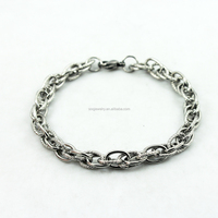 SSB102913 316l Stainless Steel Chain Bracelet for Wholesale Bulk Men's Jewelry