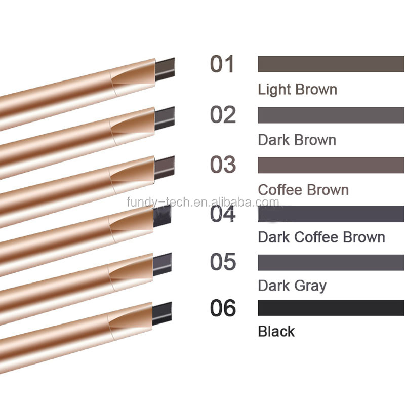 6 Colors on sales automatic permanent eyebrow pencil