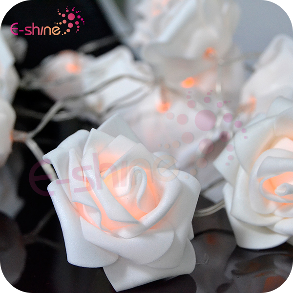 Wholesale-Elegant Luxury And Romantic Feel 20 Leds Novelty Rose Flower Led F5 String Lights
