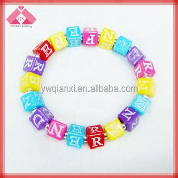 Fashion Plastic Letters Beads Bracelet Qxbr11067