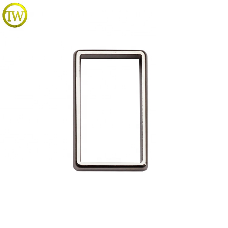 Metal Square Ring For Handbag Hardware Silver Strap Buckle Ring