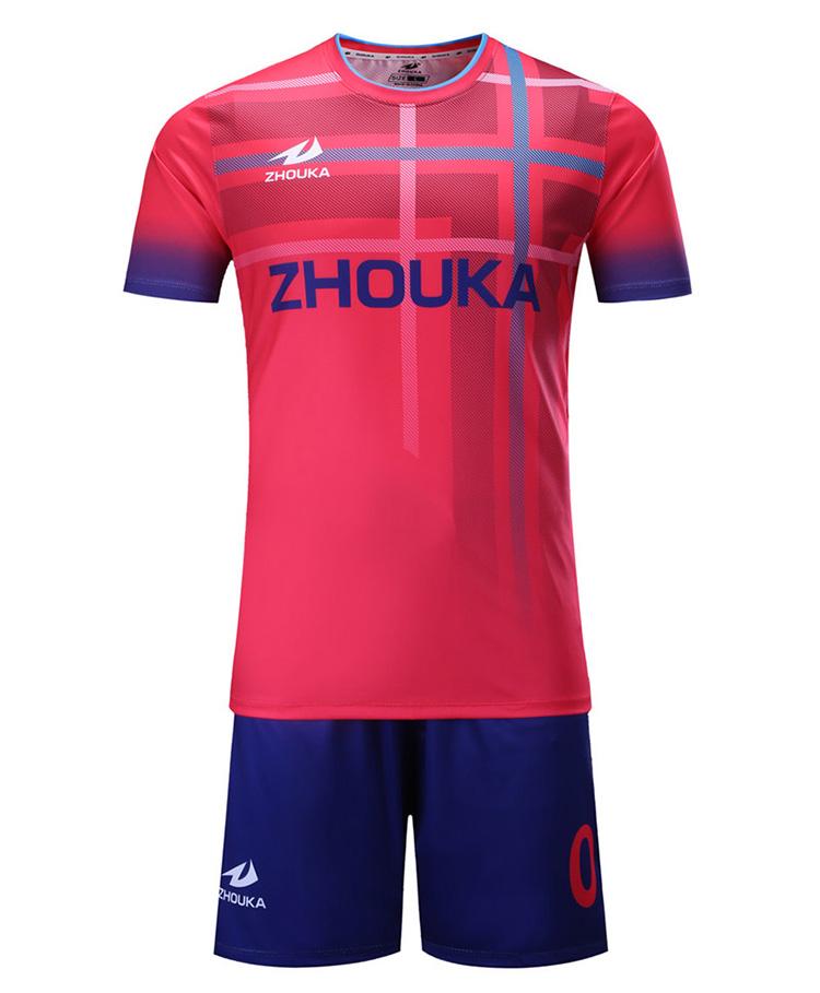 4666abf2b2b custom football team jersey set uniform sublimation printing round neck soccer  jersey top thai quality soccer sports wear