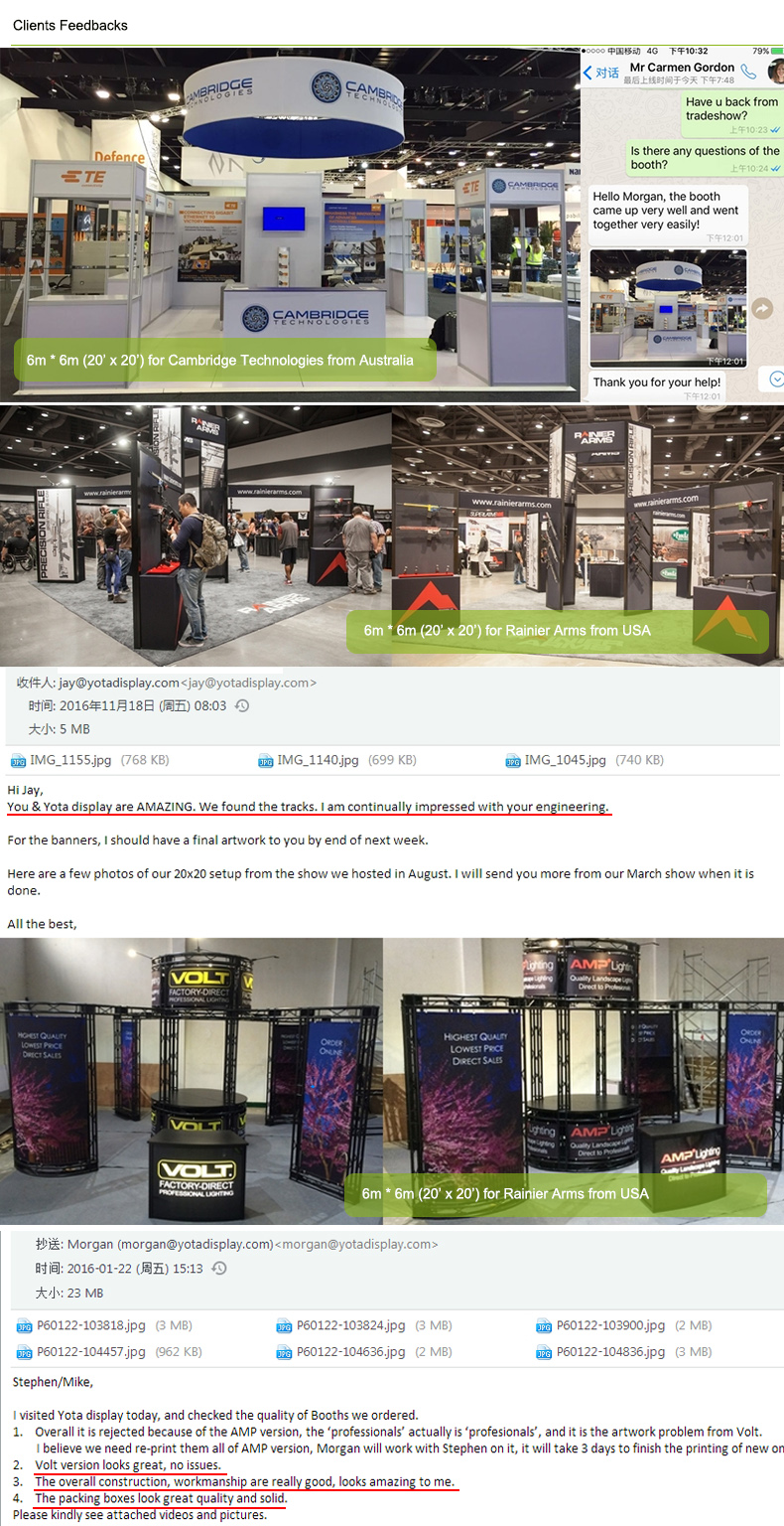 Exhibition Stand Designers Amp Builders : Yota offer lighting tradeshow exhibitor stands booth rental