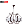 Decorative light factory glass lampshades antique brass copper ceiling murano glass chandelier