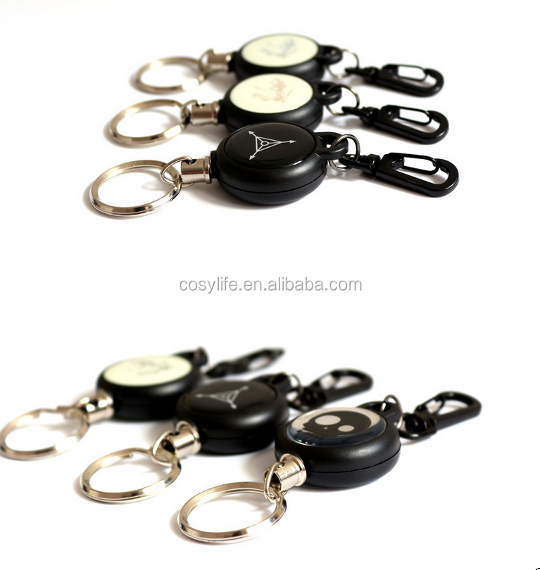 EDC Burglar Keychain Tactical Retractable Chain Return key Ring Holder Camping Tools