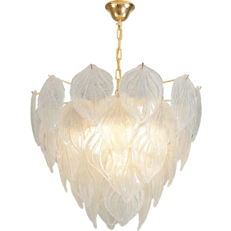 Modern decorative indoor clear crystal hanging pendent lamp