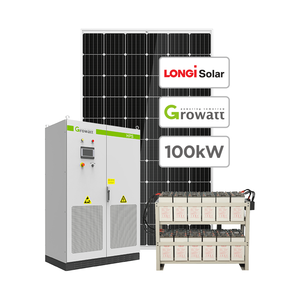 Large Solar Generator 100KW Solar PV System 100KW Solar System For Commercial