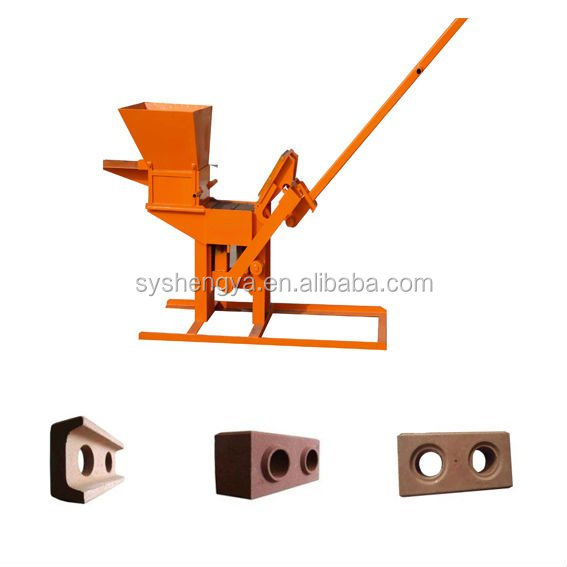 Manufacture of QMR2-40 interlocking block machine ISSB earth compressed brick machine