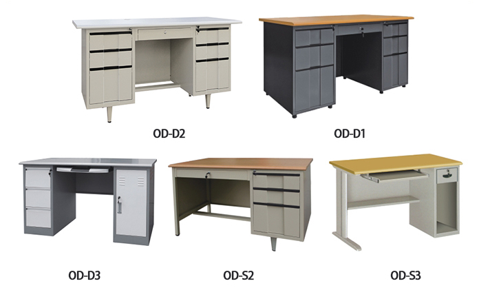 executive modern steel office desk design school metal frame