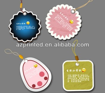 popular cute design of round shape garment hang tags oval price tags
