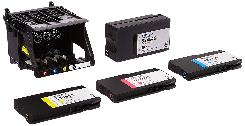 Primera Technology LX2000 Replacement Print Head with CMYK Setup Cartridges (53467)
