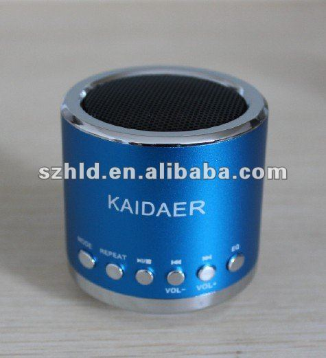 2012 hot sell kaidaer speaker mn01 loudspeaker with fm radio ,TF card and usb clot and rechargeable battery