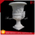 Natural marble hand carved flowerpot