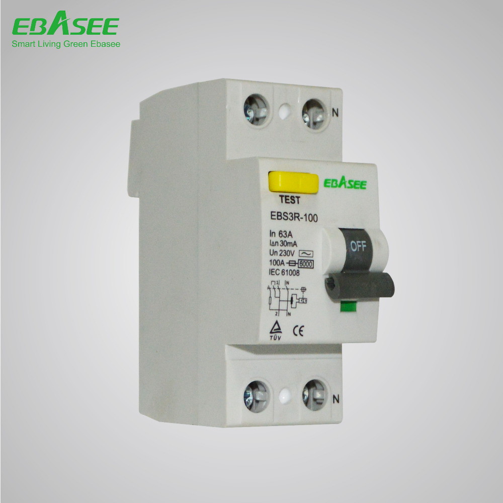 2 Pole Elcb Type A Electrical Switch Rccb Circuit Breaker - Buy Elcb ...