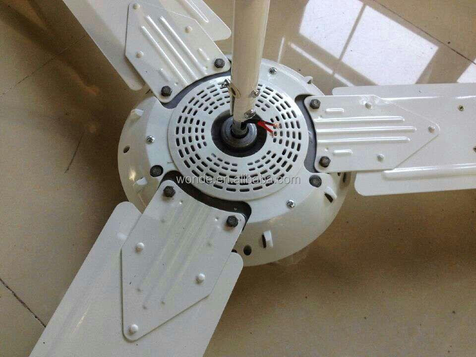 56inch Dc Ceiling Fan With Remote Control 12v Solar Energy