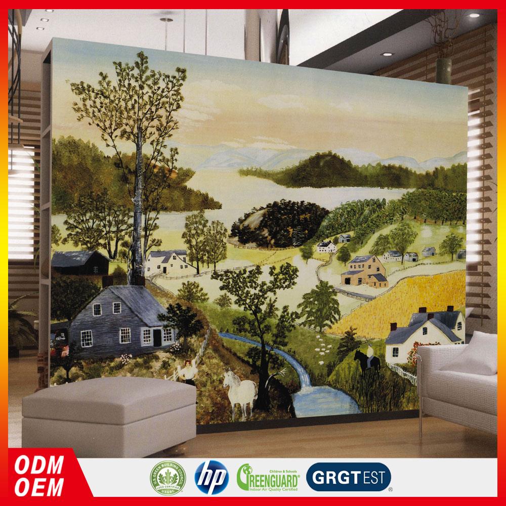 Pintura Da Foto Da Natureza Do Projeto Da Arte Murais Paisagem Do  -> Arte Parede Sala