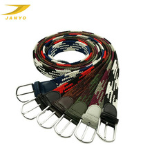 Popular colorful braided mens elastic belts