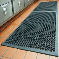 Wet Area Oil Grease Resistant Heavy Duty Anti Non Slip Bar Restaurant Industrial Commercial Rubber Kitchen Floor Mats