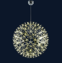 2017 Modern round globe metal led wire chandelier lighting for home decoration