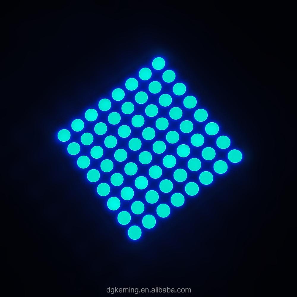 Ultra Blue Color Dot Matrix Led For Lift Sign 8x8