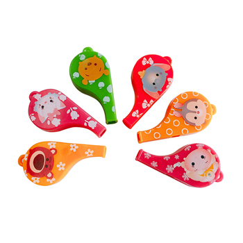 Mini Cartoon Whistle Toys for Kids Promotional Capsule