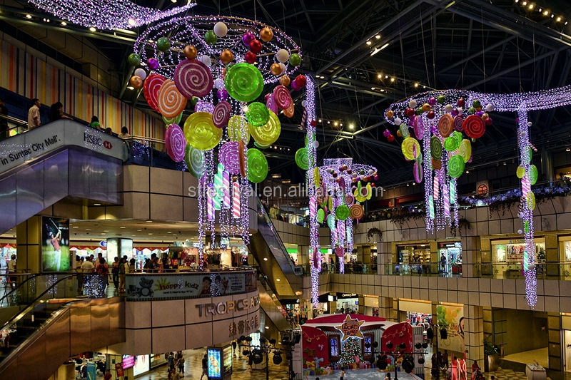 2015 christmas candy shopping mall hanging decoration for Christmas decoration online shop