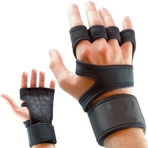Fingerless Wrist Support Cross Train Sport Weight Lifting Safety Gym Hand Working Fitness Gloves