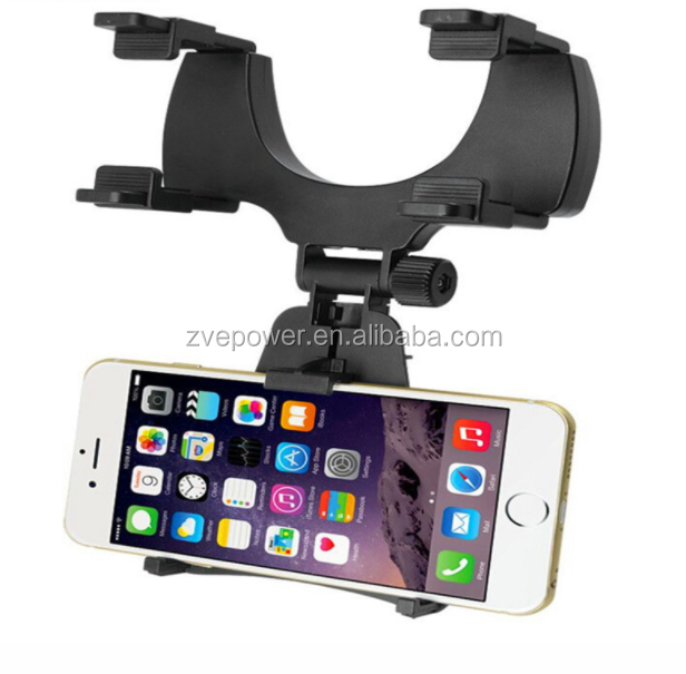 Car Rearview Mirror Mount Cell Phone Holder Bracket Stands For iPhone Mobile GPS