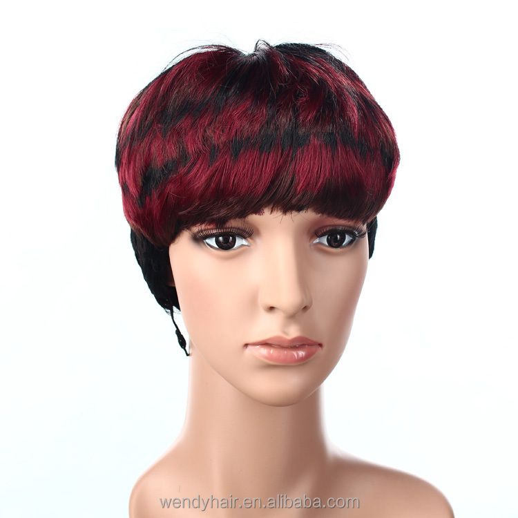 Made in china best cheap short synthetic wig monofilament synthetic wig