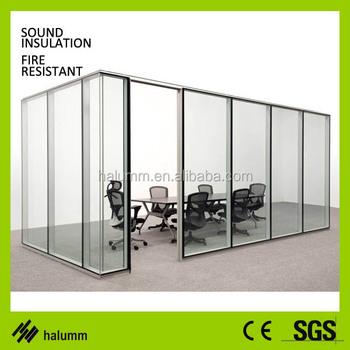 Soundproof Dubai Wood Glass Panels Sliding Glass Room Dividers ...