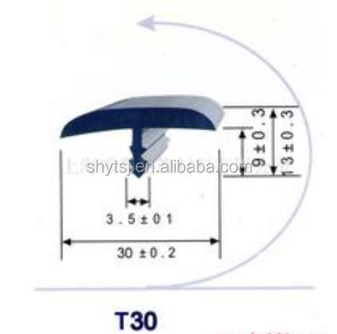 Plastic T Molding Edge For Table Countertop Edge Banding View