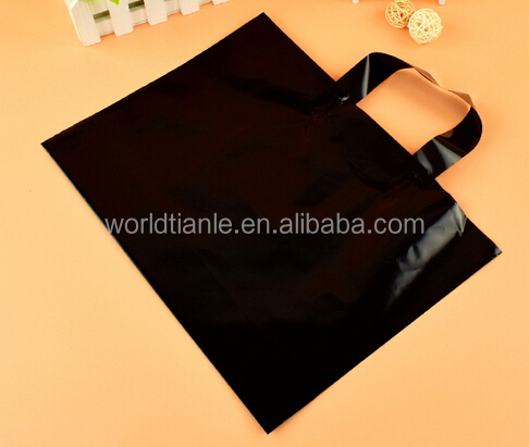 Cheap custom printing plastic loop handle bag for shopping