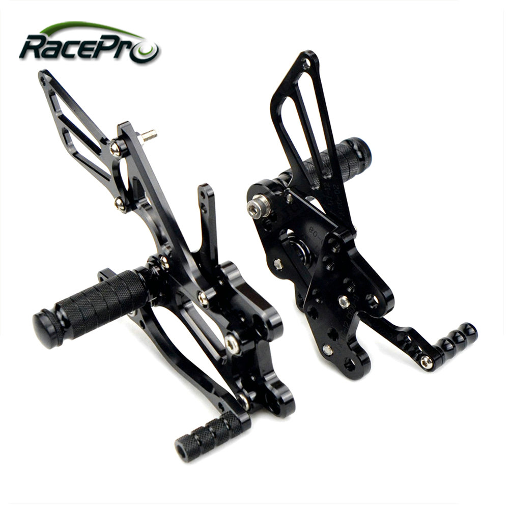 CNC Motorcycle Footrest Adjustable Rearsets For CBR600 2010 2011 2012 2013