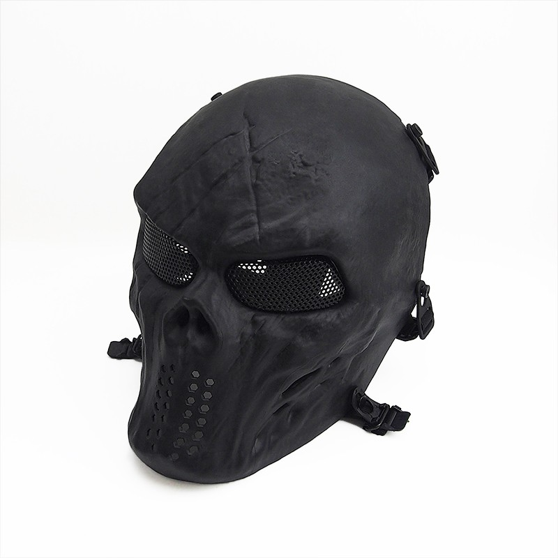 Black Skull Skeleton Airsoft Tactical Paintball Full-Face Safety Protection Mask
