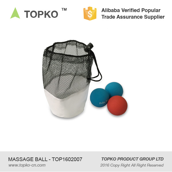 Topko Body Therapy Crossfit Lacrosse Massage Ball With Mesh Bag ...