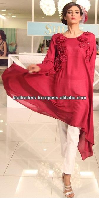 Rose Red Stylish Fashion Kurti Pakistani Indian Designer Kurti ...