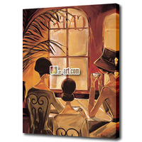 Canvas prints art picture three women in coffee