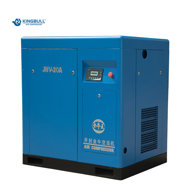 Mini 20HP elektrische stille Variabele Frequentie Schroef Compressor met lucht koeling in power 15KW direct gedreven JNV-20A