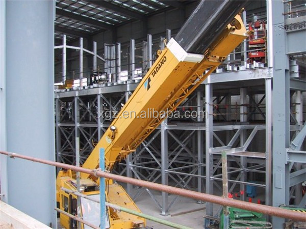 high strength insulated steel prefab workshop