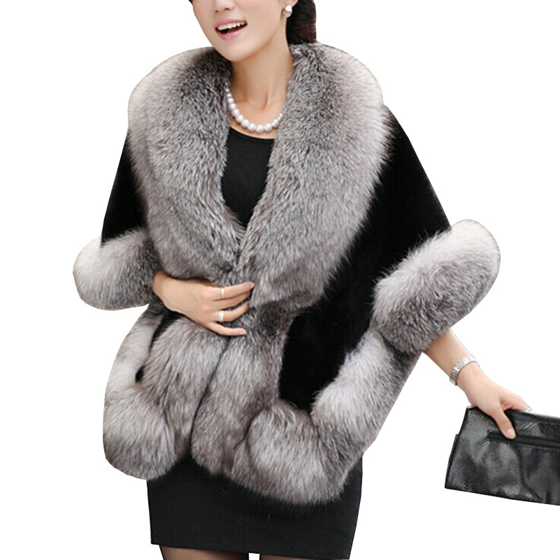 2015 New Women Fur Coat Fashion Faux Mink Coats of Fur Women's Winter Coat of fur Shawl Mink Rabbit Plus Size Woman Coat
