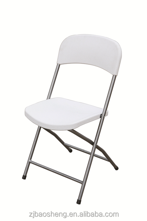 hot sale cheap durable white plastic folding chair(blow mould, HDPE, outdoor,banquet,camping)