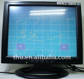 "new cheap 15"" lcd touch screen monitor usb powered touch screen monitor touch screen kit for lcd monitor"